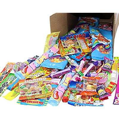 bumper box of 100 mixed childrens sweets. ideal for wedding favours, pinata, party bags, cinema trips or movie nights (or just eat them yourself)! this box exclusive to rixon and bryce.. Bumper Box of 100 Mixed Childrens Sweets. Ideal for Wedding Favours, Pinata, Party Bags, Cinema Trips or Movie Nights… 51Kp2Pr89cL