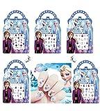 CatJoy Frozen II 2 Nail Art Stickers 170 Pcs Unique Cartoon 3D Anna Elsa Decoration for Little Girls Kids Women 5-Pack Nail Sticker