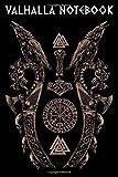 VALHALLA NOTEBOOK: Viking Norse Mythology Huginn and Muninn with Viking Dragon Skulls Mjölnir Vegvisir Valknut College Line Ruled Urnes Style Notebook Journal
