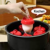 EIERKING Eiermacher ohne Schale Egglettes Eier-Pochierer Eggs Benedict 6 Stück BPA frei