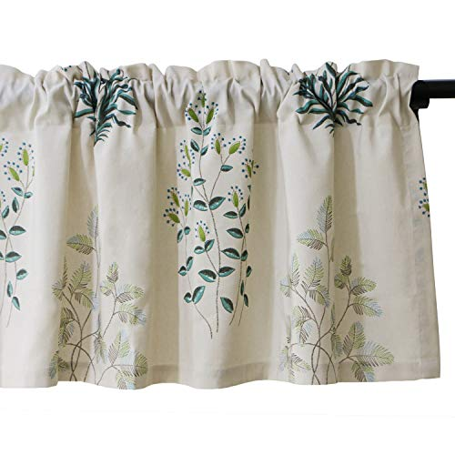 VOGOL Herbs Printed Valances for Windows Rod Pocket Window Valance for Kitchen Living Room, W52xL18, One Panel