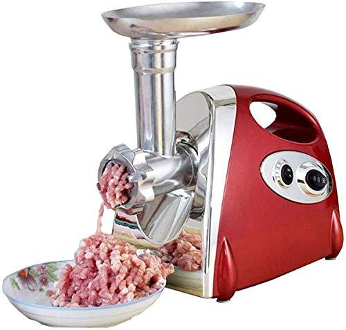 LKNJLL Molinillo de carne eléctrica, cortadora de carne multifunción y relleno de salchicha, 800W max con 3 placas de acero inoxidable de acero y salchichas Tubos de relleno para uso en el hogar y com