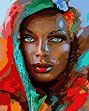 African Woman Kits Pictures Oil Painting by Numbers Acrylic Paint Drawing on Canvas Hand Painted Art Home Decor