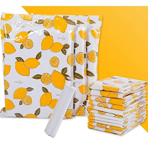 Paquete de 8 bolsas de almacenamiento al vacío Bolsa de almacenamiento de plástico engrosado Organizador para el hogar Organizador de viaje comprimido con sello plegable