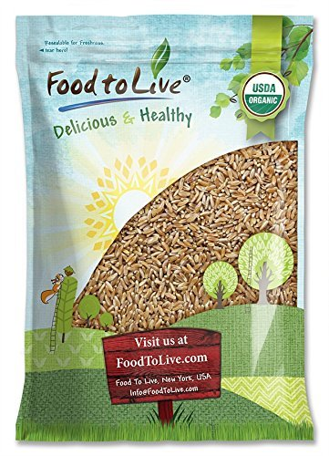 Organic KAMUT Khorasan Wheat Berries, 10 Pounds - 100% Whole Grain, Sproutable for Wheatgrass, Non-GMO, Kosher, Bulk