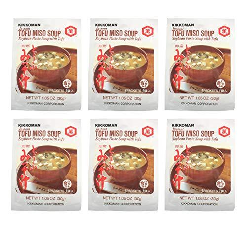Kikkoman Instant Tofu Miso Soup (6 Pack, Total of 180g)