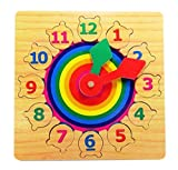 FunBlast Wooden Clock Puzzle Toy – Teaching Jigsaw Puzzle Learning Clock Toys for 3+ Years Old Boys,Girls (Multicolor)