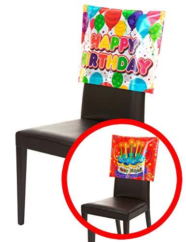 Generique - Stuhlabdeckung Happy Birthday 38 x 48 cm