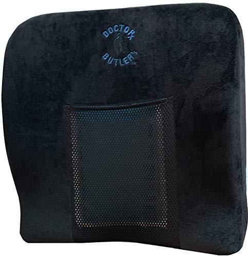 Doctor Butler's Comfort + Orthopädisches Memory-Schaum Sitzkissen mit Gel-Friereinsatz