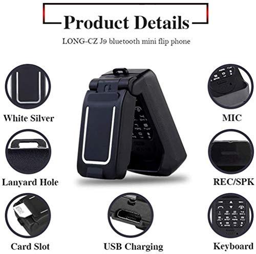 LONG-CZ J9 World Mini Smallest Flip Mobile Phone Unlocked (Black)