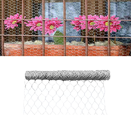 TINVHY Galvanized Hexagonal Wire Poultry Netting Mesh for Craft Projects and Gardening Metal Mesh Fencing / Chicken Wire (72Inch x 150FT x 2Inch)