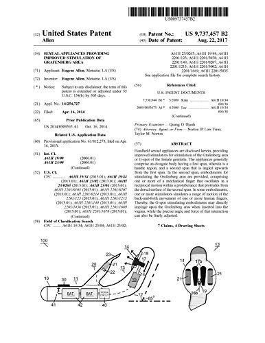 Sexual appliances providing improved stimulation of Grafenberg area: United States Patent 9737457 (English Edition)