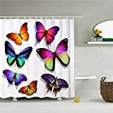 Butterfly Blessing Shower Curtain For Bathroom Decoration 66x72 Inch