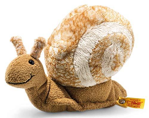 Steiff Snailly Schnecke - 20 cm - Kuscheltier für Kinder - weich & waschbar - beige/braun (094415)