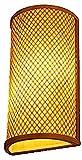 Rekaf Entrada de bambú arte arte mano bambú decorativo interior lámpara de interior café estudio antiguo lámpara de pared corredor pasillo loft retro pared lámpara estudio sala dormitorio villa escale