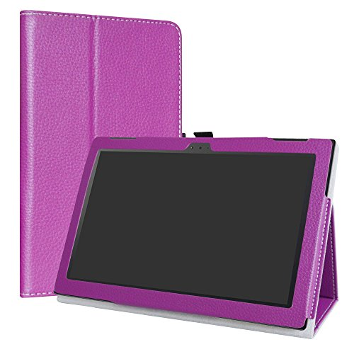 Lenovo Tab 4 10 Case,LiuShan PU Leather Slim Folding Stand Cover for Lenovo Tab 4 10 10.1 inch Tablet,Purple