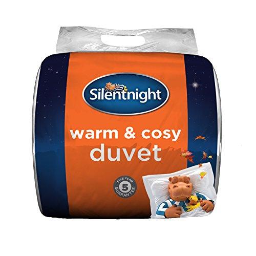 Silentnight Edredón cálido y Acogedor, 13,5 TOG, Microfibra, Color Blanco, Super-King