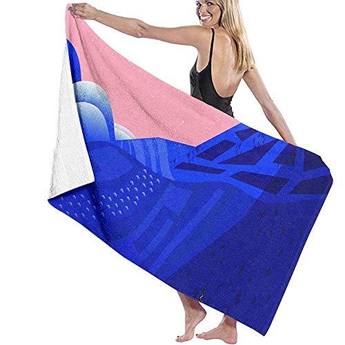 Babydo Toalla de Piscina Secret Places Albornoz Encubrir Imprime Toallas de Piscina Womens SPA Toallas de baño Ducha Toallas de Playa para Nadar