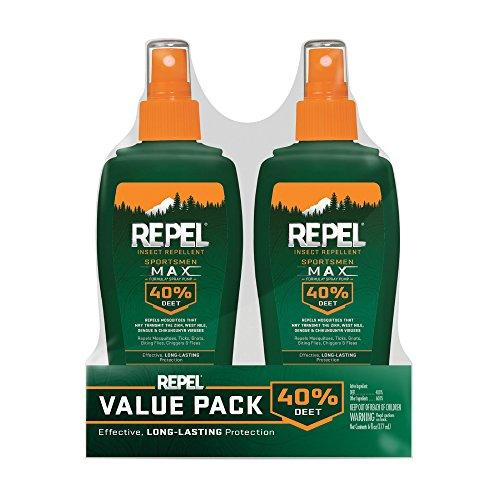 Repel 24101 Bee Sportsmen Max Formula Spray Pump 40% DEET, 2/6-Oun, 6 ounce - 2 pack, Green