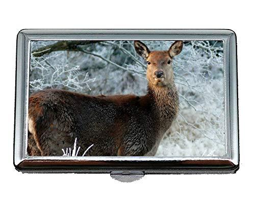 Pocket Case/Zigarettenetui, Hirsch Tier Natur wild Name Card Case