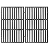 GASPRO 7638 Grill Grates for Weber Spirit 300 Series, Genesis Silver & Gold B/C, 17.5 Inch Grill Parts for Spirit E/S 310, 320, Cast Iron 17.5 x 11.9 Inch, 2 Pack