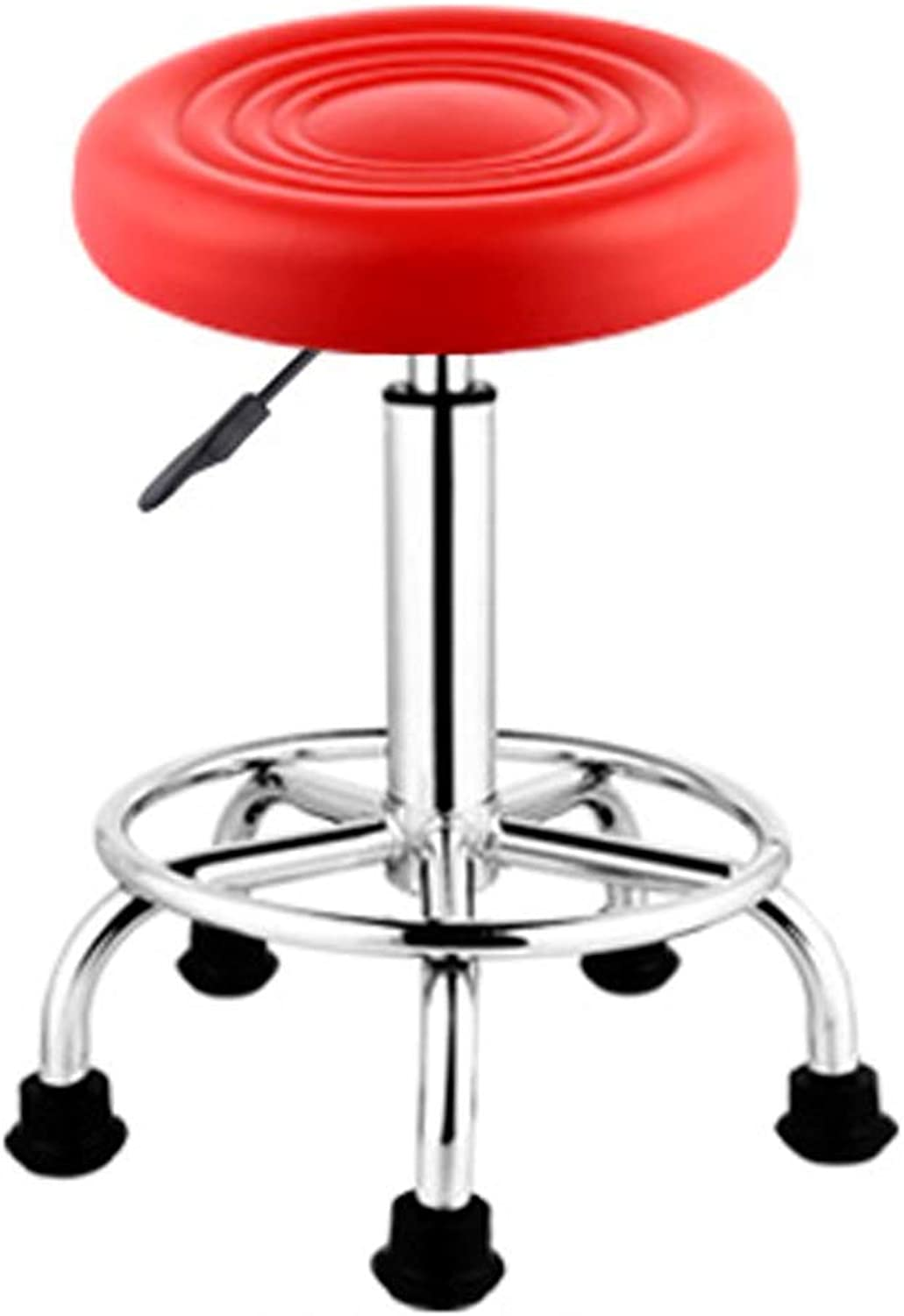 Barstools Beauty Stool Personalized Office Office Stool Lifting Chair Lifting 360° redation Bar Stool Computer Leisure Chair Home Fashion Chair (color   Red)