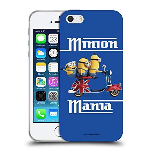 Head Case Designs Licenza Ufficiale Minions Union Jack Scooter Minion Invasione Britannica Cover in Morbido Gel Compatibile con Apple iPhone 5 / iPhone 5s / iPhone SE 2016