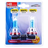 H8 Halogen Headlight Bulb fog light with Super White Light PGJI9-1 12V/35W 5000K, 2 Pack, 2 Yr Warranty