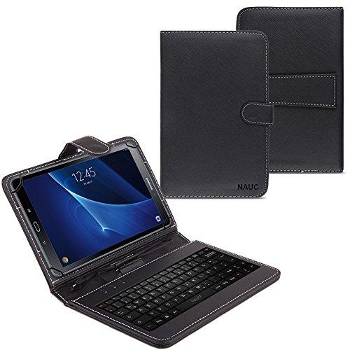 Tablet Tasche kompatibel für Samsung Galaxy Tab A6 10.1 2016 T580 T585 USB Tastatur Keyboard Hülle Cover Nauc