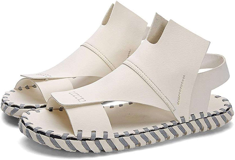 LiXiZhong Herren Sandalen, Open Open Open Toe Sandalen Outdoor Casual Herren Strand Sandalen Wandern Sandalen (Farbe   Weiß, Größe   42 EU) baf