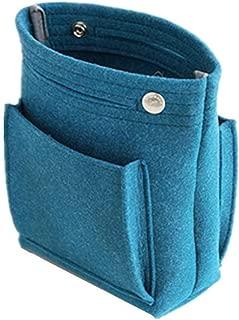 Martinimble Women Portable Makeup Bag Felt Fabric Insert Handbag Cosmetics Organizer