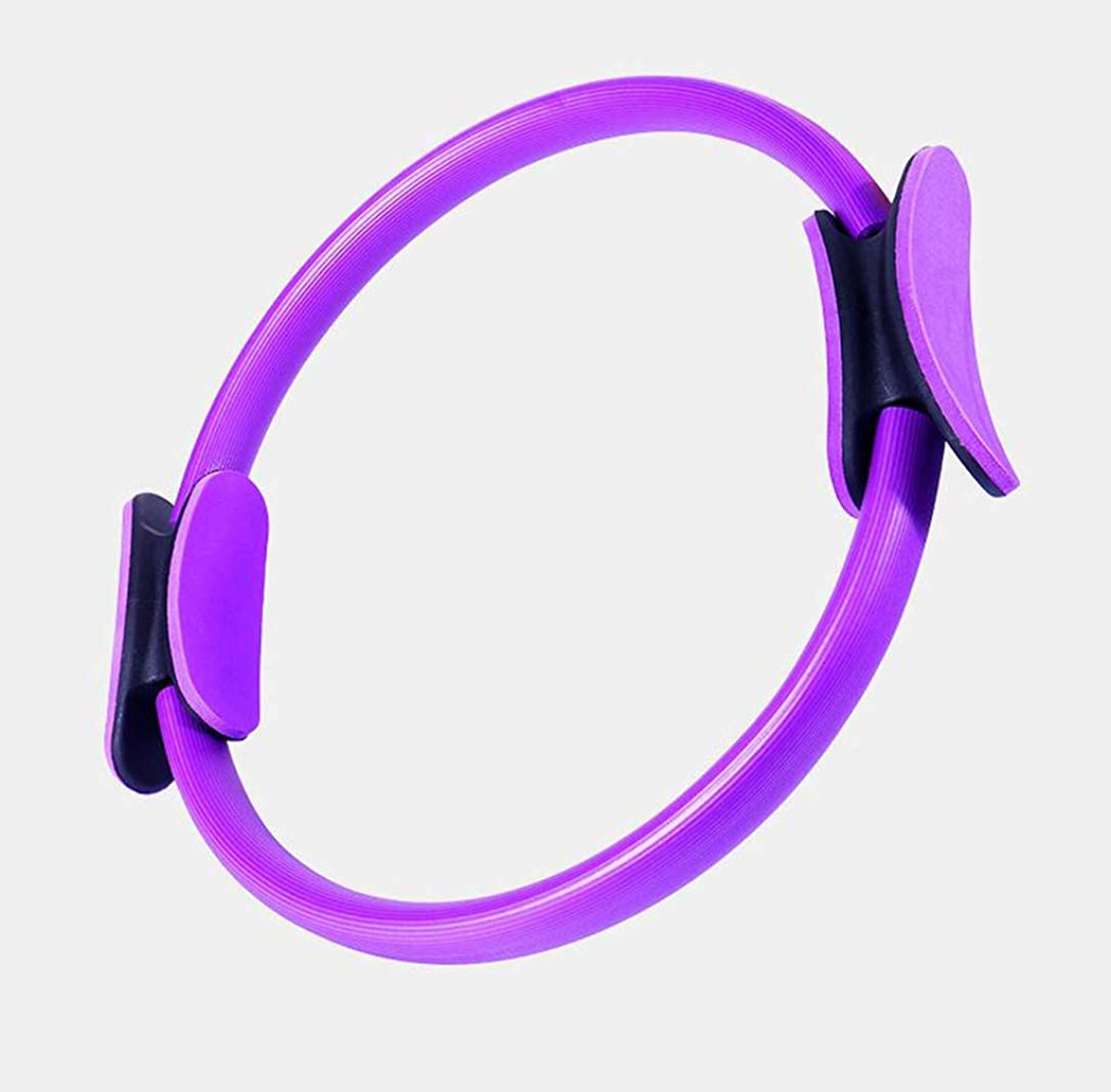 無条件リフレッシュ疑問に思うピラティスリング-ピラティスリング、ふくらはぎマッサージ、弾力性、最高のヨガ機器、最高の製品,Purple