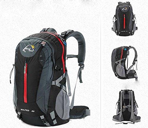 sac à dos randonnée 'S sacs d'alpinisme en plein air modèles féminins 40L sac de sport de camping sac à dos de Voyage Hommes Sacs à dos de randonnée ( Couleur : Noir , taille : 40L )
