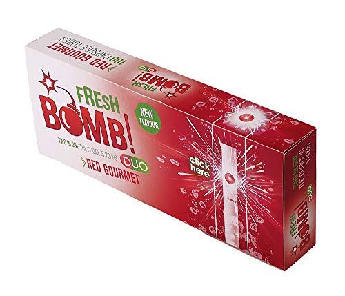Fresh Bomb Red Gourmet Click Hülsen mit Aromakapsel 5 Boxen (500 Hülsen)