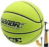 Senston Calle Universidad Balon Baloncesto Talla 7, Cuero PU Balon Baloncesto para Hombres, Interior Al Aire Libre Balon Baloncesto