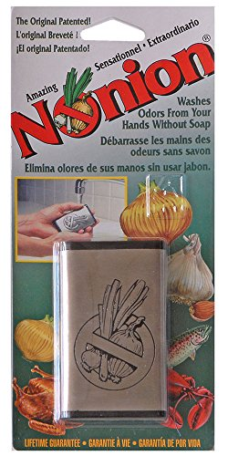 Wonder-Bar Nonion Bar Stainless-Steel Soap - Odor Remover is Great for Removing Onion Smell, Garlic, Fish and other Strong Odors. Environmentally Friendly, Safe and Effective