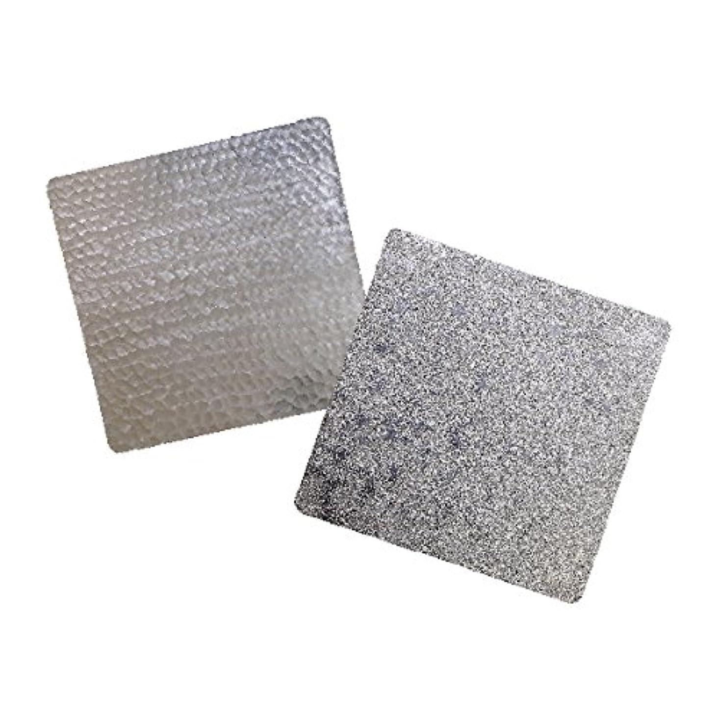 み節約する数錫 すずがみ(錫紙)2枚組(あられ?かざはな)セット S 13×13(cm) シマタニ昇龍工房