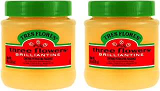 Three Flowers Solid Brilliantine Pomade, Men Hair Styling, 2 pack