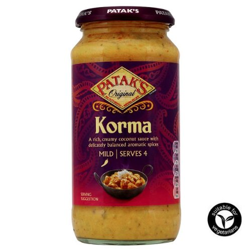 Patak's Original Korma Indian Cooking Sauce 450g
