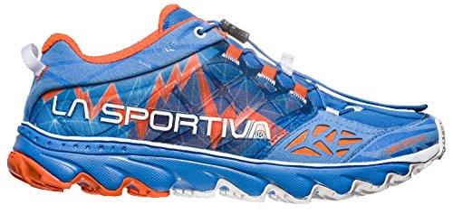 LA SPORTIVA Damen Helios 2.0 Woman Traillaufschuhe, Mehrfarbig (Marine Blue/Lily Orange 000), 42 EU