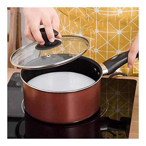 IUYJVR 16 Ollas de Cocina antiadherentes de 18 cm Cacerolas para Utensilios de Cocina Ollas y sartenes de aleación de Aluminio Uso para Cocina de inducción de Gas (Color: 18 cm)