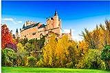 ZZXSY Puzzles 1000 Piezas Segovia España. Alcázar De Segovia Construido sobre Una Roca Rocosa Construida En 1120. Castilla Y León Divertido Regalo para Niños Y Adultos