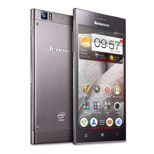 Lenovo K900 5.5 Inch Unlocked Android Smartphone - (1920 x 1080 FHD 400+PPI) 4GB/1GB Intel Atom Z2580 2.0GHz Retina AH-IPS Screen GPS Dual Camera 13.0MP F1.8 Large Aperture 2.0MP Flash Light Stainless Steel-Gray (Rooted + Google Play)