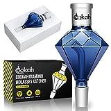 Cookah Cachimba Vidrio colector de Melaza Vidrio 18/8 Corte, Shisha Melaza Diamante Cristal Grueso, Universal Prémium Shisha Accesorio (Azul Oscuro)