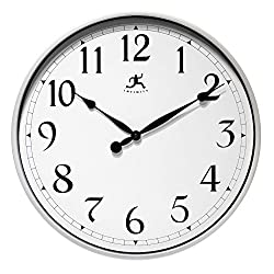 Infinity Instruments Silver Wall Office Clock, 18