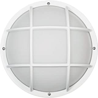Solo Lights S772WF-LE26C-WH Bulkhead Wall & Ceiling Light, White, 9W & 4000K LED Lamp Included