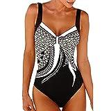 Set de bikini Traje de baño mujer de una pieza de baño traje de baño trajes de baño sin espalda, traje de líquido for la prenda de playa, más tamaño (Color : Black, Size : L)