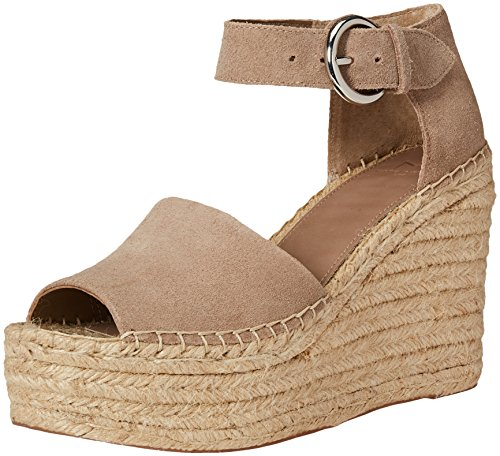 Marc Fisher LTD Alida Espadrille Wedge Taupe Suede 9