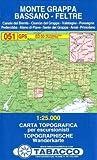 Monte Grappa 051 GPS Bassano - Feltre by Tabacco Casa Editrice (2009-01-01)