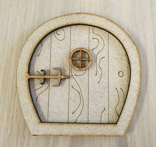 L52 - Placa de madera MDF para puerta de hada, lista para decorar con láser, diseño de hadas